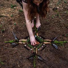 79/365 (Ursule Gaylard) Tags: 365project photographychallenge selfportrait mandala nature woman offering