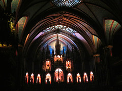 Notre Dame Cathedral, Montreal, Quebec (duaneschermerhorn) Tags: architecture building skyscraper structure architect church cathedral dark apse statue christ jesus ceiling domedceiling