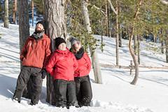 enjoying the late winter sunshine (VisitLakeland) Tags: outdoor snow winter people finland metsäkartano day light sunny ulkoilu talvi lumi
