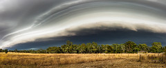 Approaching storm front (Chas56) Tags: rural rustic farm country storm stormfront clouds sky landscape panorama canon ngc canon5dmkiii australia victoria