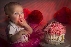 Baby 1 Year (♥siebe ©) Tags: 2018 holland nederland netherlands siebebaardafotografie dutch family fotoshoot photoshoot wwwsiebebaardafotografienl baby cake cakesmash taart 1