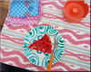 petits délices (mhobl) Tags: khenfouf tarte framboise orange pink pattern dessert stickerei handicraft green blue maroc ikat