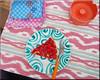 petits délices (mhobl) Tags: khenfouf tarte framboise orange pink pattern dessert stickerei handicraft green blue maroc ikat
