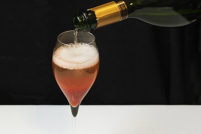 Rhubarb Ruinart Champagne cocktail