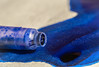 Rorschach's birthday - Rorschachs Geburt (HMM !) (ralfkai41) Tags: inkspot blue macro macromondays pmakro blau tintenfleck rorschachtest schreiben writing theblues tinte ink rorschach