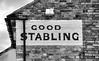 Good Stabling (R~P~M) Tags: england uk unitedkingdom greatbritain sign advert advertisement pub inn publichouse whitehorse linslade leightonbuzzard beds bedfordshire