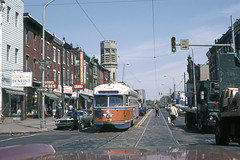 US PA Philadelphia SEPTA PCC 2098 8-1976 Rt 15 28th-Girard (David Pirmann) Tags: pa pennsylvania philadelphia septa ptc train trolley tram transit railroad streetcar pcc stlouiscarco