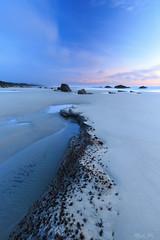 Dreamy... (Masako Metz) Tags: beach ocean sea water rocks sand tidepool sky clouds sunset oregon coast pacific northwest usa america nature landscape seascape waterscape coastal coastline shore shoreline outdoor