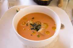 Gazpacho at L'Olivier (Bill in DC) Tags: nm newmexico santafe restaurants food 2017 lolivier