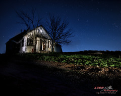 Teachings From the Past (1300 Photography) Tags: nikon d750 affinity 20mm nightphotography nightsky stars architecture lightpainting oldbuilding oldschoolhouse country school longexposure flickrfriday dream