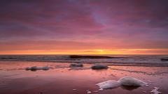 Kleurrijk (zsnajorrah) Tags: nature beach sea seascape water reflection sand foam waves horizon cloudy evening sky clouds sun sunset beforesunset goldenhour neutraldensityfilter nd tiffen gradnd sirui canon 7dmarkii ef1635mmf4l netherlands zandvoort zandvoortaanzee thalassa