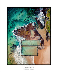 Twin Pools at Austinmer (sugarbellaleah) Tags: pool swim exercise active laps fitness water ocean beach seaside coast surf waves salty sand rockpool recreation leisure fun happiness outdoors rocks geology nature environment drone aerial aqua blue yellow sunny morning summer austinmer australia illawarra wollongong