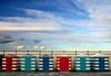 Huts (PJ Swan) Tags: beach huts harbour colours colourful lothian scotland blue