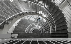 Coffee break (andreasbrink) Tags: austria graz people urban street staircase abstract