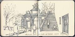 Bajando por la calle de Toledo (f.gómezcorisco) Tags: rotulador airelibre castejao urbansketchers cuaderno apunte boceto dibujo madrid españa arquitectura