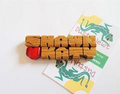 Oak Wood Refrigerator Magnet (DustyNewt Scott) Tags: magnet magnetic refrigerator wood wooden woodworking personal personalized name 2liner love heart couple housewarming oak shawn katy