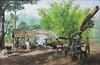 Romeo Enriquez: Barrio Scene (Leo Cloma) Tags: philippines leon gallery auction auctions makati filipino art antiques cloma