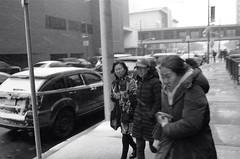 "In the eye of the storm (Xsbmrnr (Please read profile before ""following"") Tags: acros100 acros blackandwhite bandw downtown 35mm 35mmfilm film filmphotography hamilton hamiltonontario hamont hc110 ice olympusom1 olympus om1 people street streetphotography urbanphotography winter zuiko zuiko35mm"