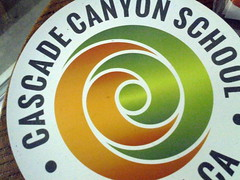 DSC03256 (classroomcamera) Tags: school campus cascade canyon fairfax california private independent logo logos brand brands magnet magnets car cars circle circles spiral spirals green orange white black writing name names