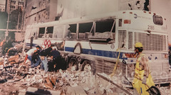 """9/11/2001 World Trade Center Terrorist Attack: Severely Damaged Bus near Ground Zero"" Photograph, New York Transit Museum, Brooklyn, New York City (jag9889) Tags: 2016 20160612 911 9112001 anniversary brooklyn bus collapse damaged debris downtownbrooklyn groundzero indoor kingscounty lowermanhattan mta manhattan metropolitantransportationauthority museum ny nyc nytm newyork newyorkcity newyorktransitmuseum people photograph terroristattack transit transportation usa unitedstates unitedstatesofamerica wtc worldtradecenter jag9889"