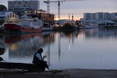 street scene (oliv86) Tags: street rue life vie pont poulie cable bordeaux garonne people personne gens urbain nuit