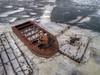 Abandoned (milfodd) Tags: january 2018 hdr aerialphotography quadcopter dji drone phantom4pro rondoutcreek rondout frozen ice abandoned barges crane