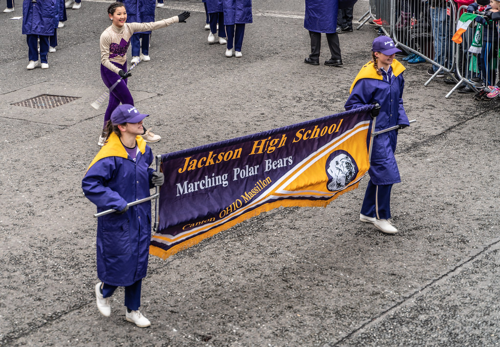 Jackson High School - Purple Army Marching Band [Dublin Patricks Day Parade 2018]-137625