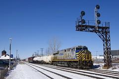 CN 368 (Michael Berry Railfan) Tags: cn canadiannational cn368 train freighttrain dorval montreal montrealsub quebec ge generalelectric gevo es44ac crex1510 crex citirail