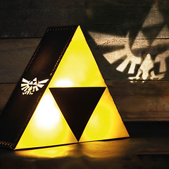Legend of Zelda Glowing Triforce Lamp (mywowstuff) Tags: gifts gadgets cool family friends funny shopping men women kids home