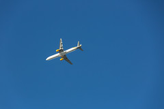 #PicOfTheDay Plane from below (Candidman) Tags: plane from below blue sky flight passenger flying
