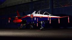 'Rasberry Ripple' SEPECAT Jaquar T.2A I ZB615 I QinetiQ (MarkYoud) Tags: raf cosford threshold aero nightshoot rasberry ripple fast jet military sepecat jaguar t2a qinetiq zb615