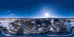 Torsby (360x180) (ba7b0y) Tags: 360 panorama equirectangular ptgui pro torsby värmland sweden snow drone dji mavic