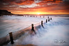 Mahon Pool, Maroubra NSW (Paul Boulter) Tags: tide splash yellow orange red water movement cloud sun sunrise wave sea australia nsw sydney maroubra ocean pool