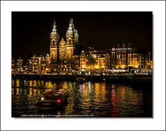 Amsterdam by night (Jérôme Delahaye) Tags: olympus em1 zuiko 1240 amsterdambynight hollande