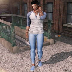 Take a Walk (Bryan Trend) Tags: riot tshirt belleza jake signature gianni adam slink jeans fameshed event men male new post