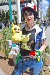 Punk Ash and Pikachu 1 (Koumori W) Tags: wondercon wondercon2018 cosplay pokemon ashketchum ashcosplay satoshi pikachu punk gottacatchemall