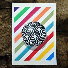 Of every stripe (id-iom) Tags: aerosolpaint art arts brixton colour cool england float geometric graffiti idiom london paint paper shadow shape sphere spray stencil stripes uk urban wikipedia