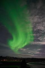 Kirkjufjara_aurora_L1090450 (nocklebeast) Tags: auroraborealis iceland kirkjufjarabeach nrd aurora stars ocean beach vik southcoast