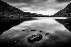 Llyn Ogwen (ed027) Tags: ifttt 500px lake fog river dawn standing water mist sunset riverbank sunrise hill alpenglow reflection beautiful black white mood moody long exposure national park mountain mountains cloudy blur clouds stones rock rocks stone clear