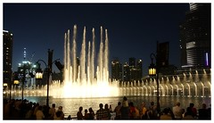 The Dubai Fountain. A little bit of Vegas. (posterboy2007) Tags: dubai uae burjkhalifa water fountain dubaifountain