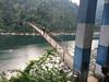 Hanging Bridge ... (rajnishjaiswal) Tags: hanging bridgeonriver dwaki water river dwakiriver bikeride biking