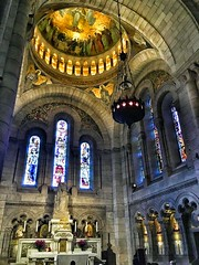 Basilique Sacré-Coeur - Paris - France - Interior Altar (Onasill ~ Bill Badzo) Tags: basilique sacrécoeur paris france historic church basilica sacred heart mount martyrs montmartre roman catholic rc religion style architecture byzantino byzantine romanesque landmark tourist travel tours walking statute hill onasill nrhp historical people sky building park interior altar ceiling mural