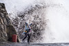 The Beast From The East (ianrwmccracken) Tags: stone d750 nikon storm windy person escape splash dysart tide surprise sea photograph selfie shore fife scotland candid river ianmccracken sigma150600mm wave reaction kirkcaldy wall girl telephoto forth
