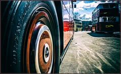 Tyred out (Blaydon52C) Tags: bus aec routemaster coach beamish museum