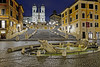 The Spanish Steps - Rome (Alan Amati) Tags: amati alanamati italy rome spanish steps stairs staircase spanishsteps piazza piazzadispagna urban city plaza bluehour bluesky predawn morning eternalcity europe spring fountain sinkingship ship bernini cityscape topf25 topf50 topf100 roma italia