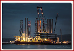 Seajacks Scylla (Deek Wilson) Tags: seajacks scylla wind farm installation vessel belfast port lough northern ireland night shoot photography