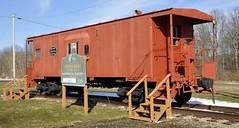 Stoneboro, Pennsylvania (2 of 5) (Bob McGilvray Jr.) Tags: stoneboro pennsylvania pa caboose steel static display public faded nyc newyorkcentral baywindow railroad train tracks
