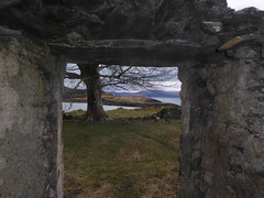 Deserted Village of Sailean (Salen) , Island of Lismore (Julie Rutherford1 ( off/on )) Tags: window pane mountain tree dry stone wall lismore island scotland salen sailean frame julie rutherford