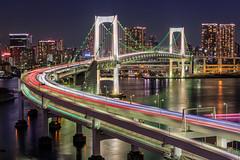 Tokyo Rainbow Bridge (kbaranowski) Tags: japan tokyo rainbowbridge skyscraper ©2014krzysztofbaranowski krzysztofbaranowski wwwtokyoshotcom