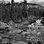 A Revisit to the Meeting of the Waters (Black & White, Yoho National Park) thumbnail